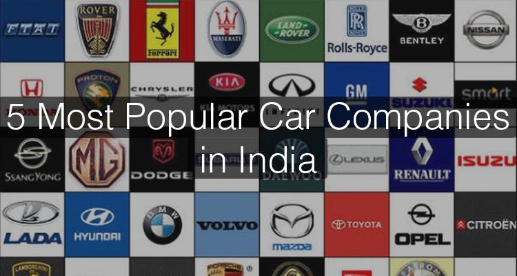 5 Most Popular Car Companies