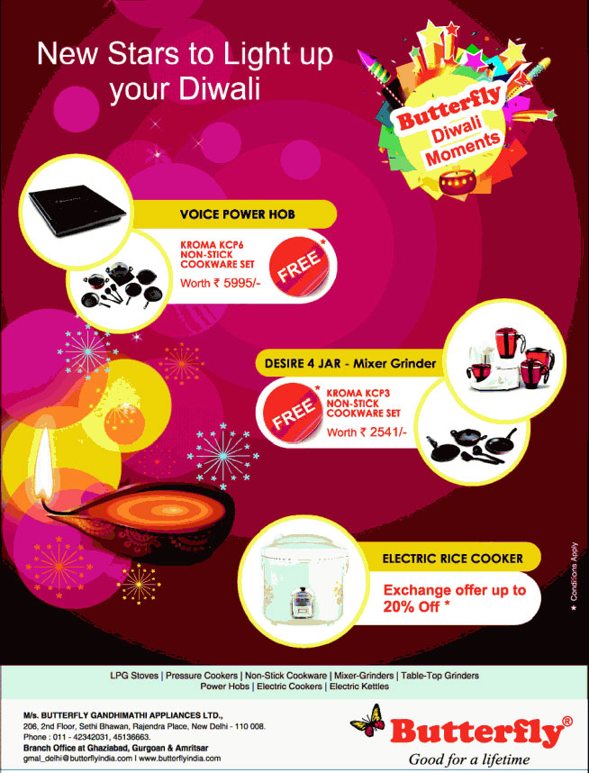 Celebrate Diwali with Free Kitchen Set with Butterfly Appliances ...