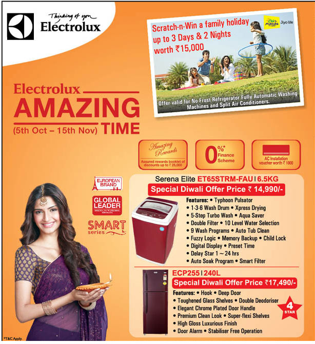 electrolux diwali offer