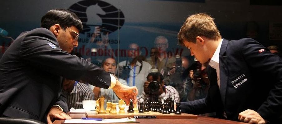 Chess Master Viswanathan Anand vs Magnus Carlsen