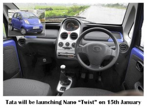 "Tata will be launching Nano ""Twist"" on 15th January"