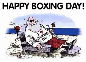 Happy Boxing Day, Give a best gift wrapped in BOX