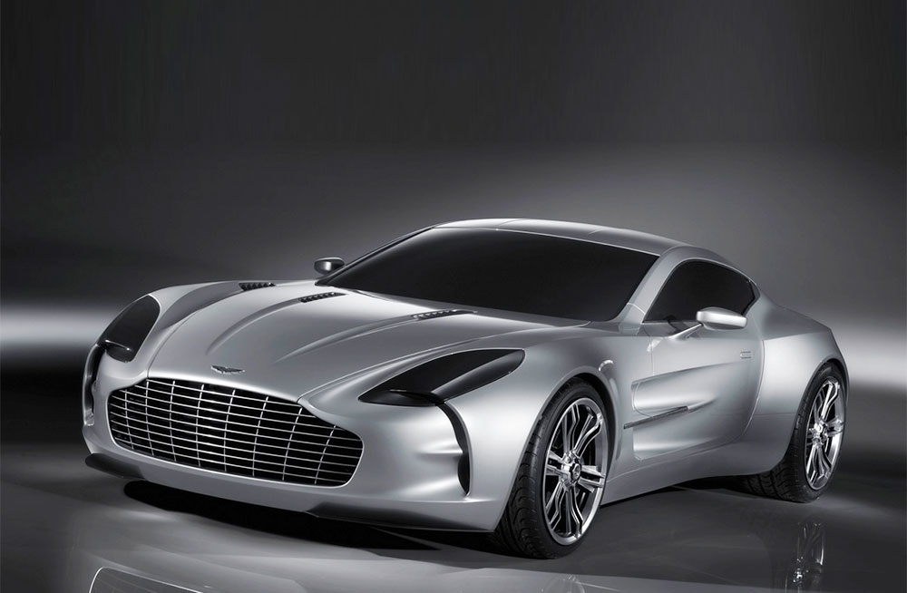 Aston Martin one 77 Gray White