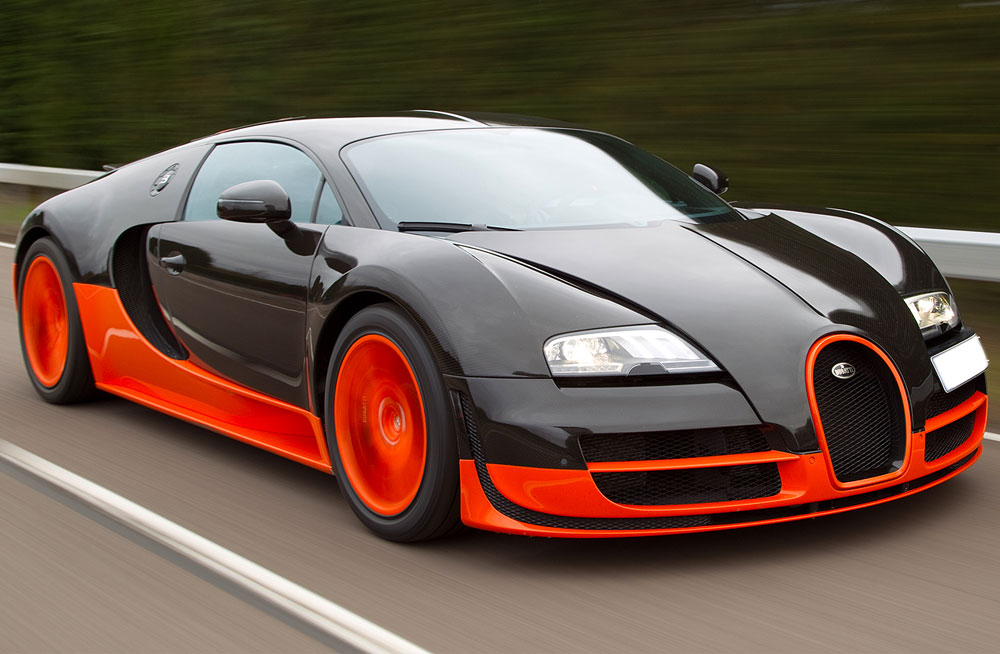 Bugatti Veyron Orange Black