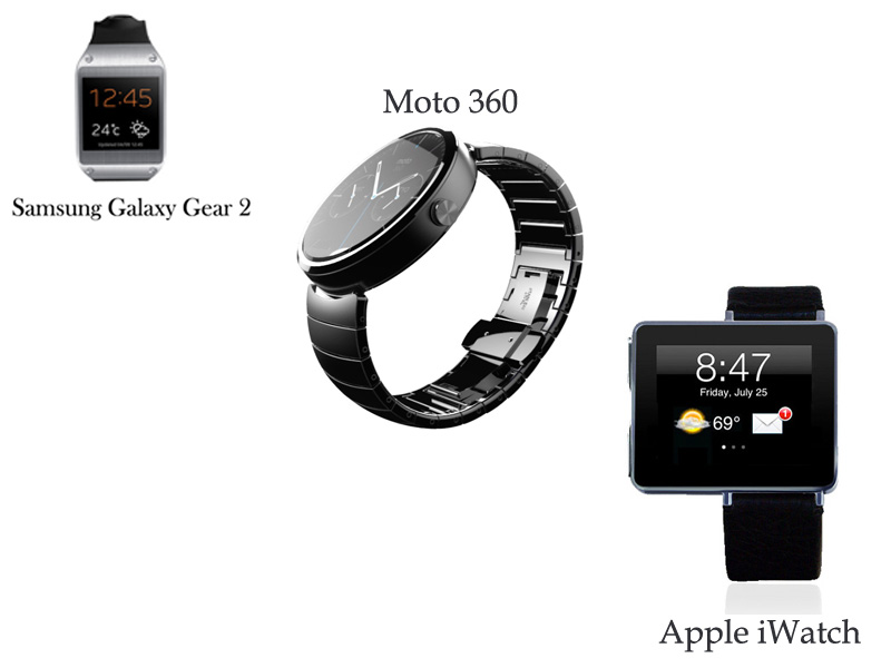 Samsung Gear2 vs Moto 360 vs iwatch