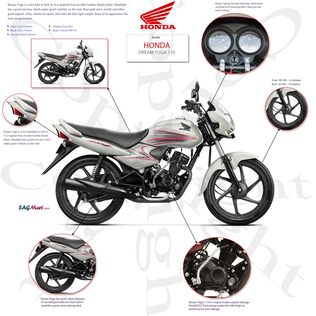 Honda Dream Yuga Infographics