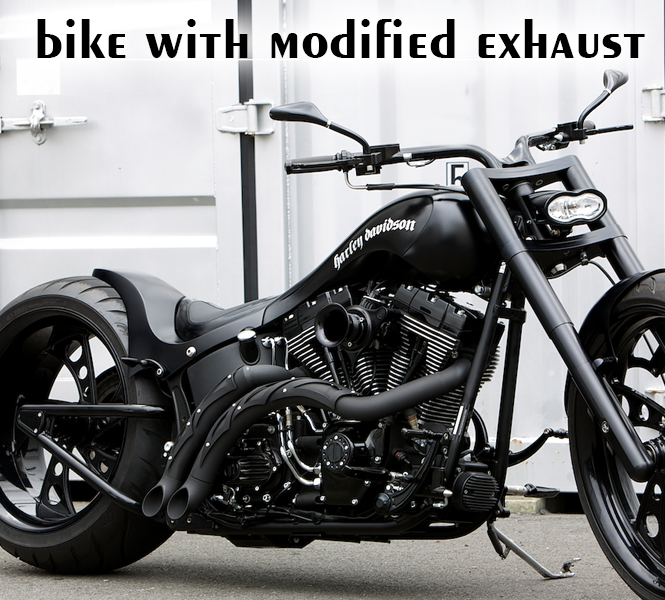 Bike with modified exhaust