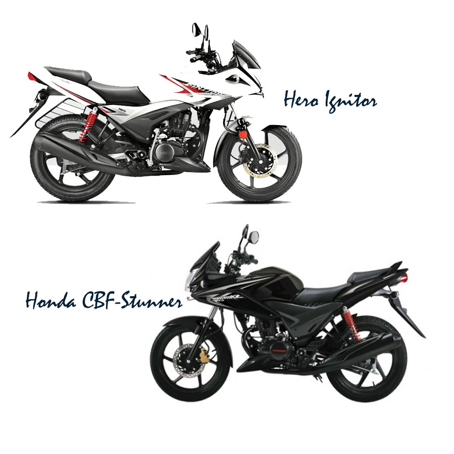 Honda stunner vs Hero ignitor, 125 cc motorbike twins in India