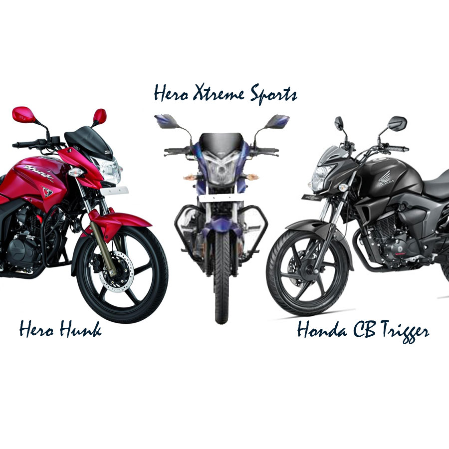Hero Xtreme vs Hero Hunk vs Honda Trigger, 150 cc motorbikes in India