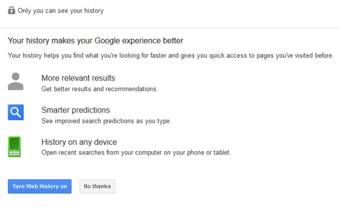Disable Search History