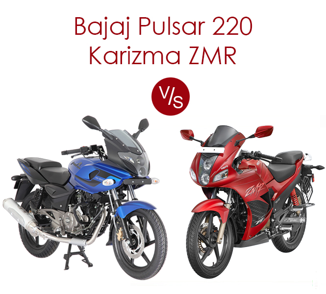 Hero Karizma ZMR vs Bajaj Pulsar 220, powerful battle