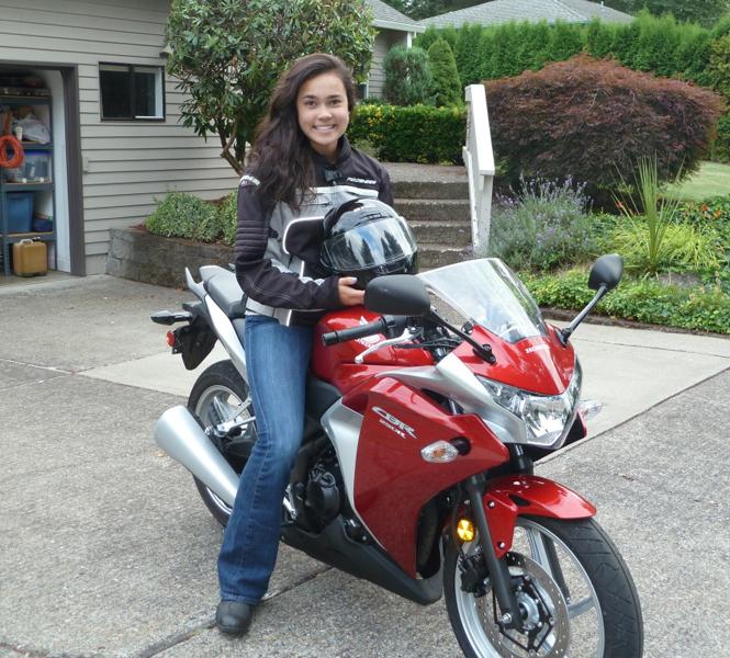 Women on Motorcyle