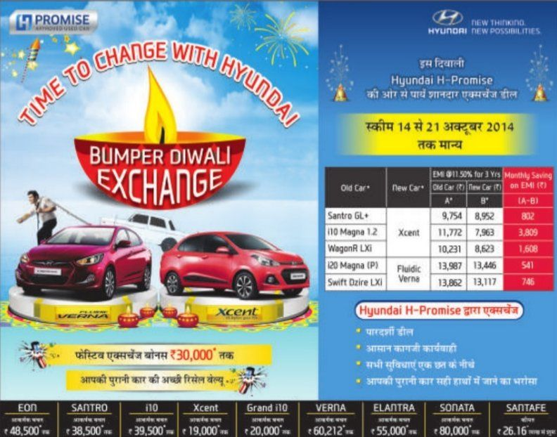Hyundai Diwali 2014 Exchange Offer