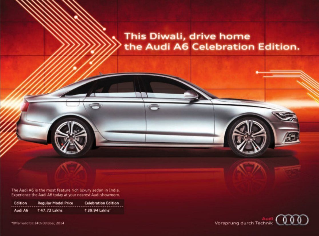 Audi Offers Diwali Discount On Luxurious A Sedan SAGMart - Audi offers