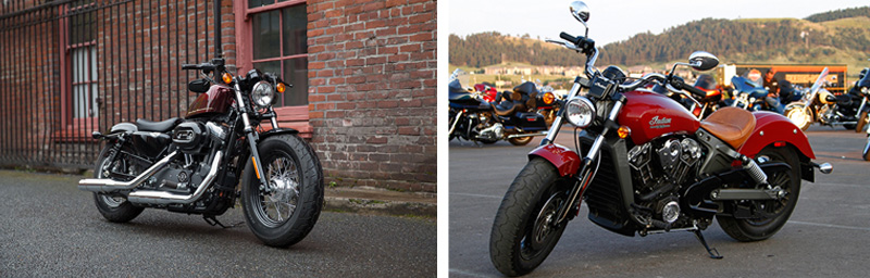indian-scout-vs-HD-sportster-forty-eight