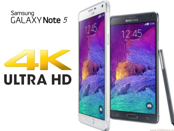 Samsung Galaxy Note 5 with 4K Display