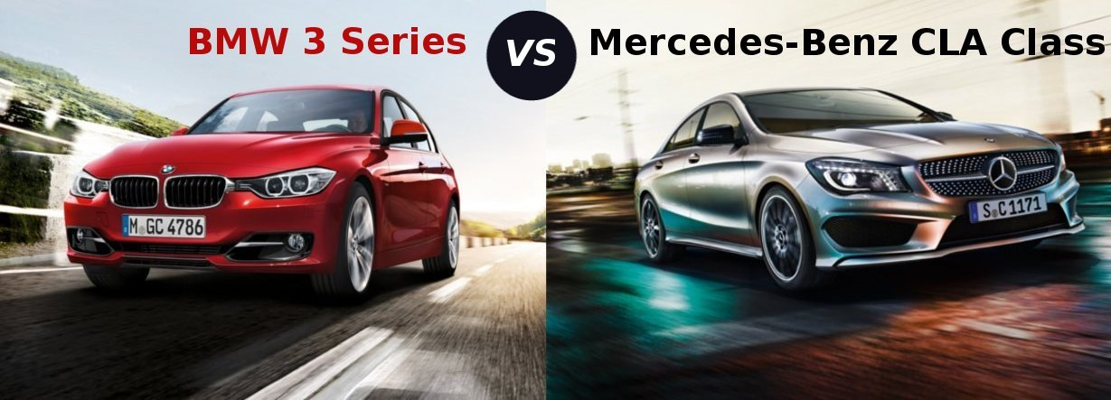 compare mercedes-benz cla-class vs bmw 3 series sedan | sagmart