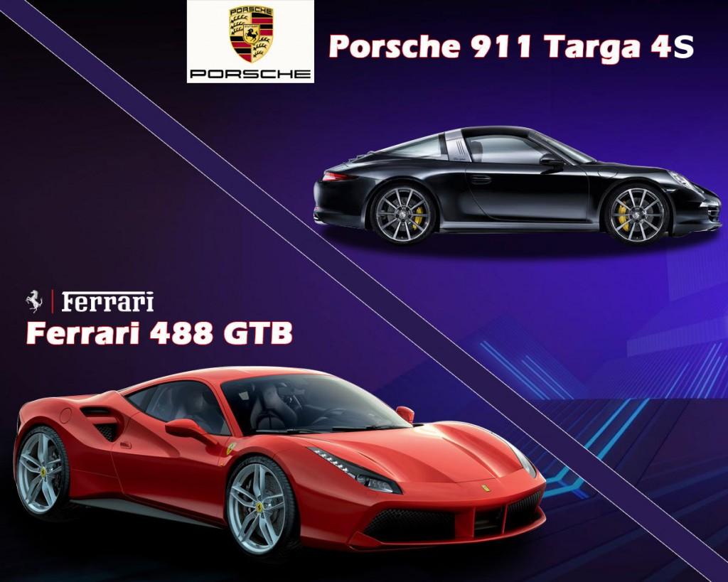 Porsche 911 Targa 4S vs Ferrari 488 GTB