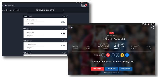 StarSports Cricket Score App