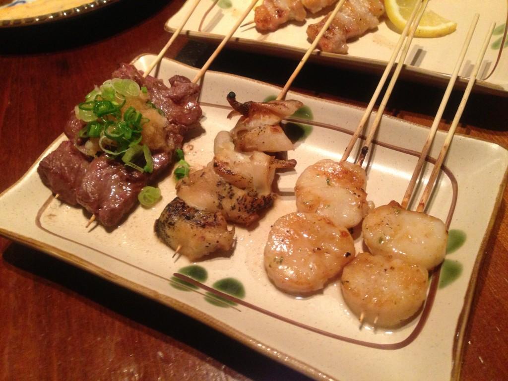 scallops-yakitori