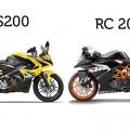 ktm rc 200 vs pulsar rs200 compare