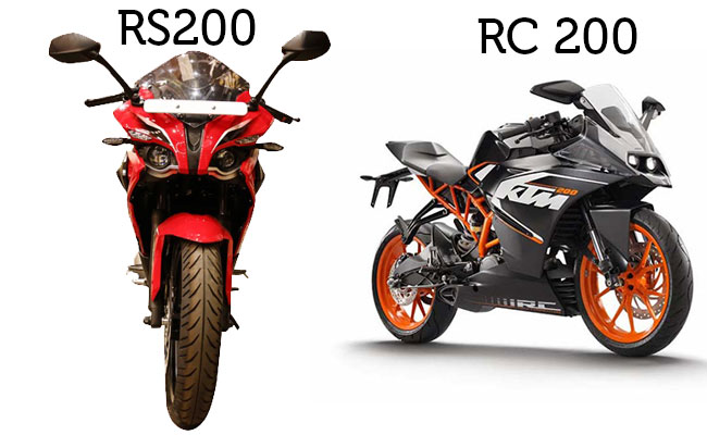 KTM RC 200 vs Pulsar RS 200