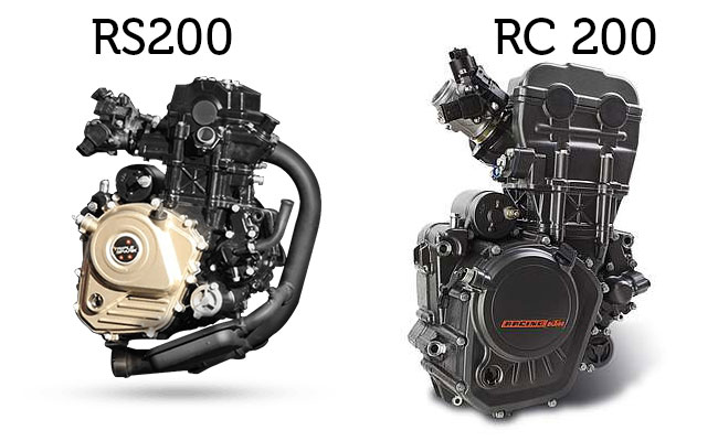 Pulsar RS200 VS RC 200 Engine