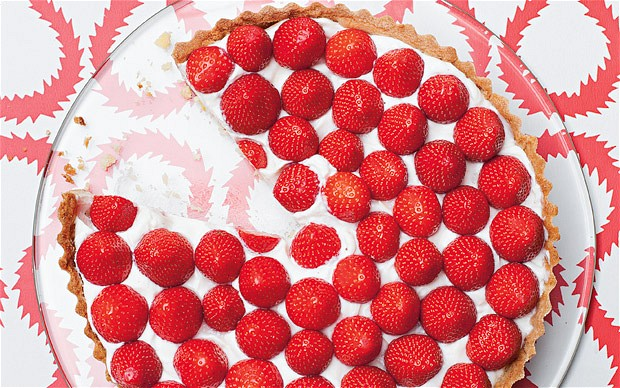 StrawberryAlmondCreamTart