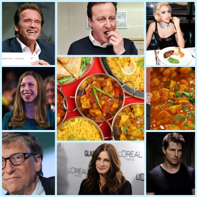 HollywoodCelebritiesWithIndianFood