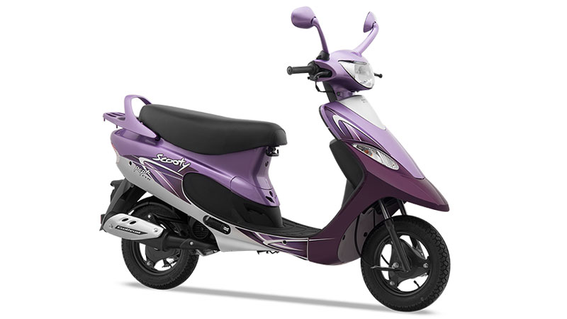 TVS Scooty Pep Plus Vivacious Purple