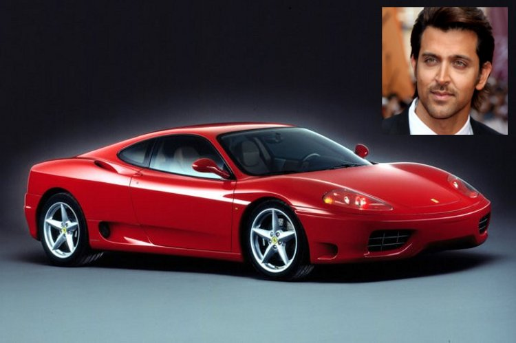 Hrithik and Ferrari 360 Modena