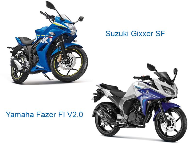 gixxer sf vs fazer fi v2