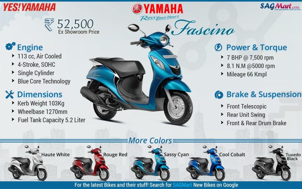 yamaha fascino infographic