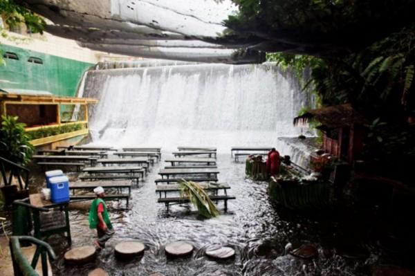 Villa Escudero Waterfall Restaurant