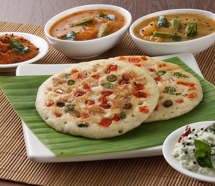 Few steps to cook golden crisp uttapam for your breakfast for Abhiruchi south north indian cuisine
