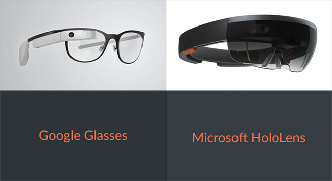 Google Glass and Holo Lens