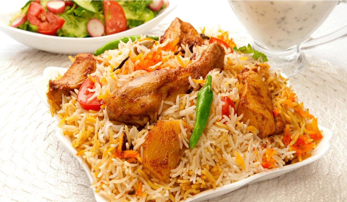 chicken biryani This is a really simple dish that's packed with flavour you can use chicken,  prawns, lamb or veggies or just use mushroom and peas to make an awesome  pilau.