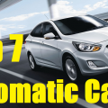 top 7 automatic cars in inda
