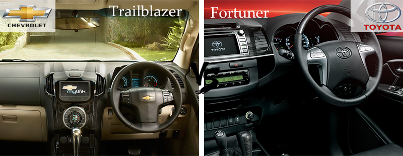 Interior-and-Performance - Chevrolet Trailblazer vs Toyota Fortuner