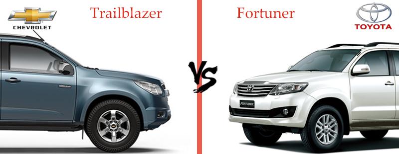 Chevrolet Trailblazer Vs Toyota Fortuner Comparison Sagmart
