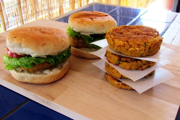 WhiteBeanSweetPotatoBurgers