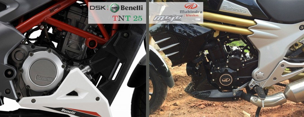 benelli tnt 25 vs mojo engine power