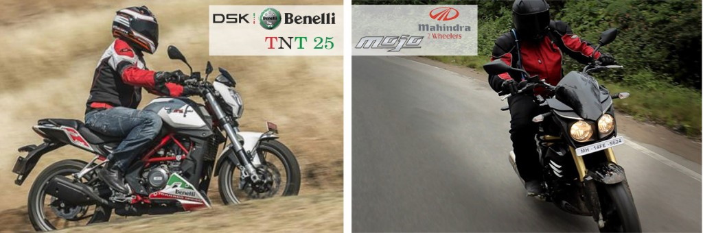 benelli tnt 25 vs mojo riding and handling