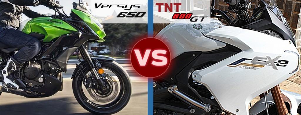 versys 650 vs tnt 600 gt design style