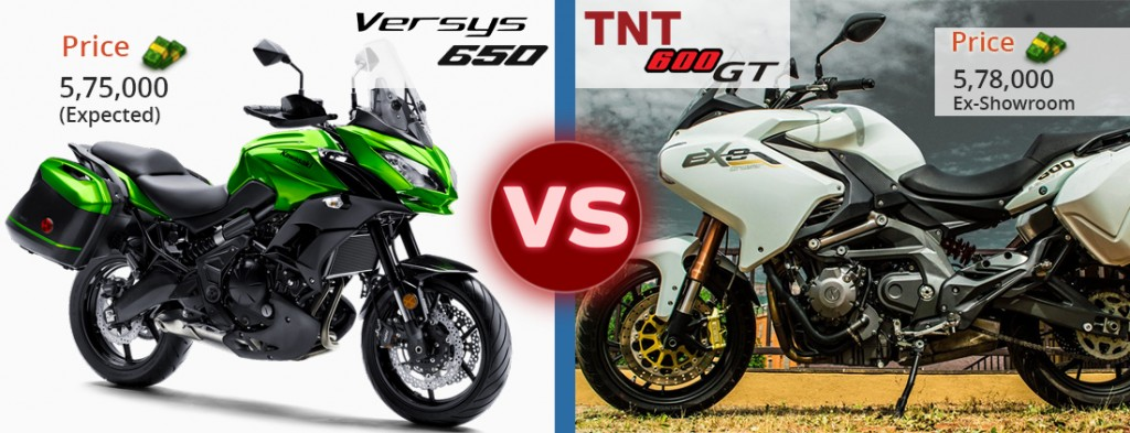 versys 650 vs tnt 600 gt price