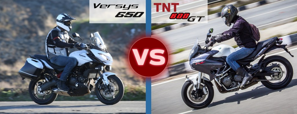 versys 650 vs tnt 600 gt riding and handling