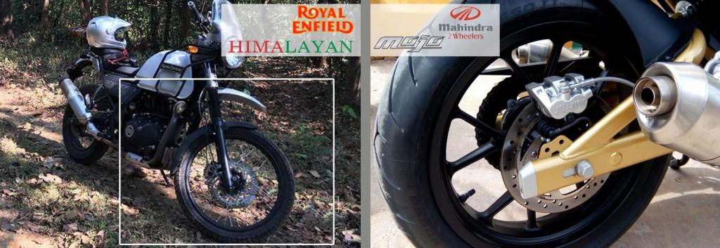 mojo and himalayan brakes, suspensions