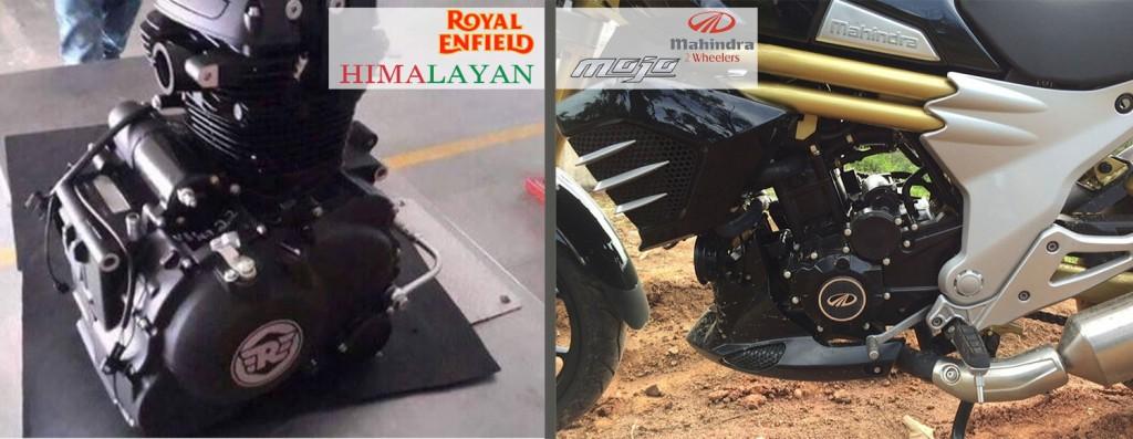 himalayan and mahindra mojo power, engine and performance
