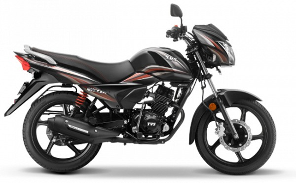 All New TVS Victor Black