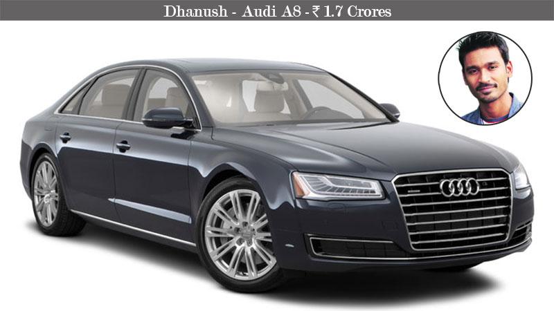 Dhanush-Audi-A8